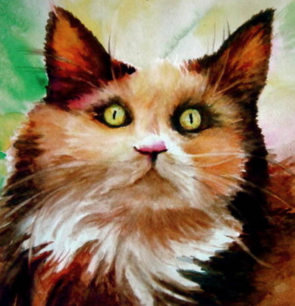 Cat Art Print featuring the painting Putty Tat by L Lauter