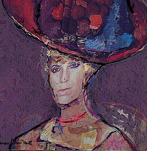 Hat Art Print featuring the painting Red Hat by Noredin Morgan