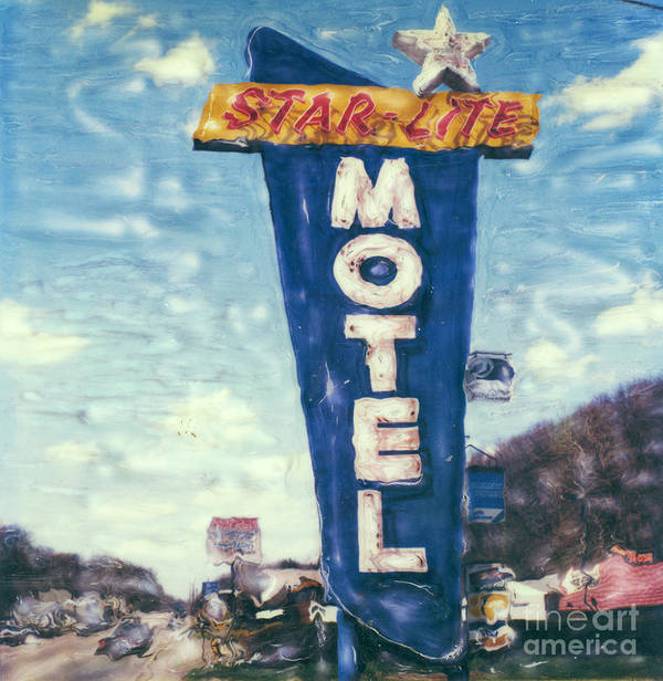 Polaroid Art Print featuring the photograph Star-lite Motel by Steven Godfrey