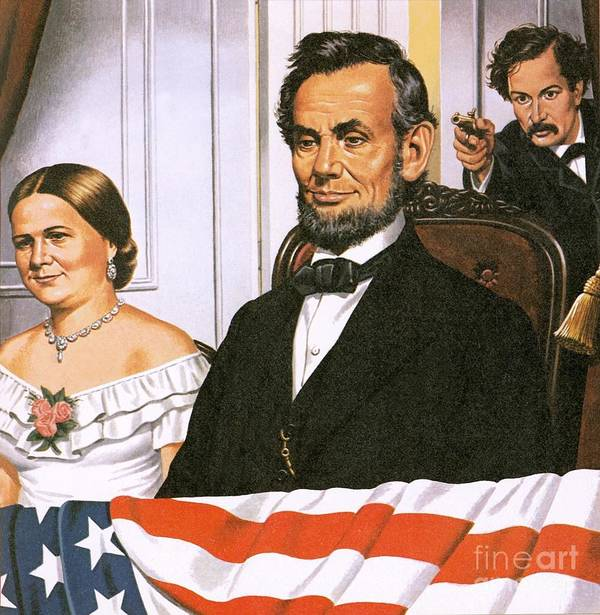 Abraham Lincoln Art Print featuring the painting The Assassination Of Abraham Lincoln by John Keay