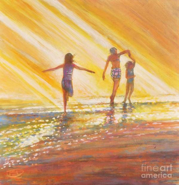 Sisters Art Print featuring the painting Three Sisters by Kip Decker