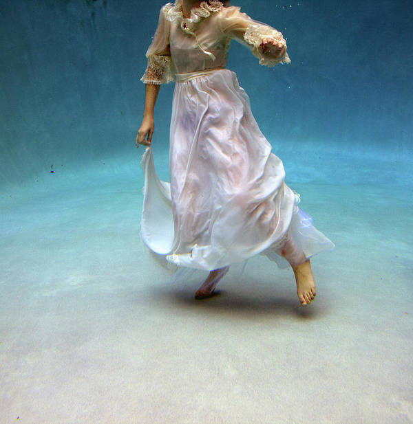 Underwater Art Print featuring the photograph Woman Underwater by Taylor Dawn Fortune