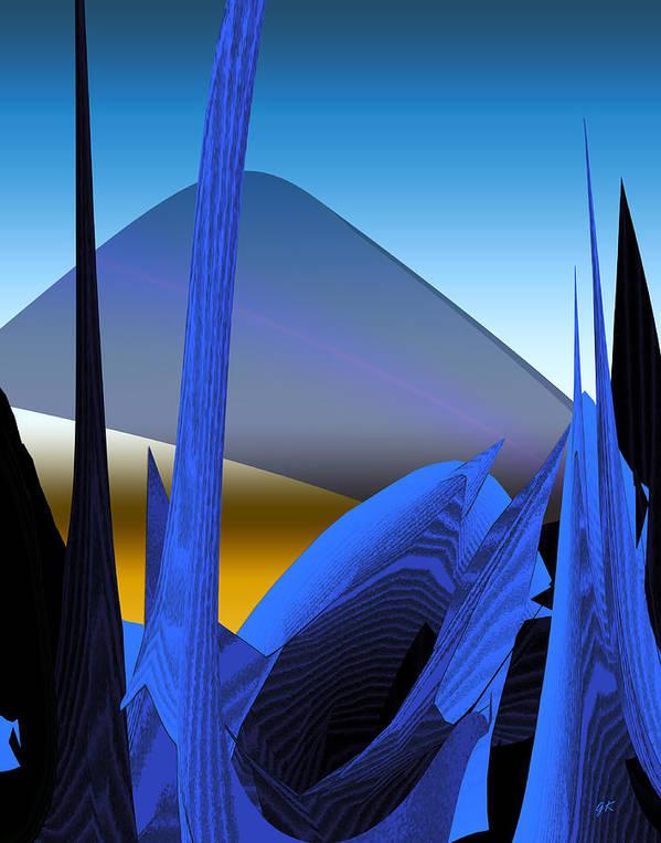 Digital Art Art Print featuring the digital art Abstract 200 by Gerlinde Keating - Galleria GK Keating Associates Inc
