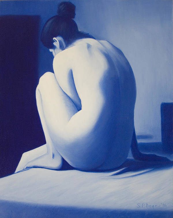 Figure Art Print featuring the painting Back To Blue by Stephen Degan