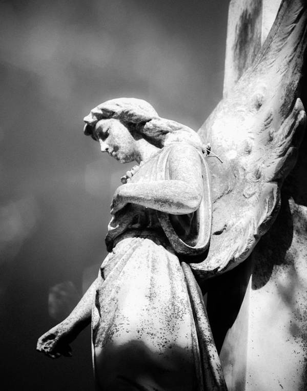 Angel Art Print featuring the photograph Bokeh Angel In Infrared by Sonja Quintero