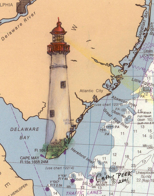 Cape May Nj Map on
