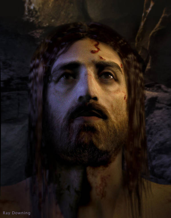Jesus Print featuring the digital art Jesus Resurrected by Ray Downing