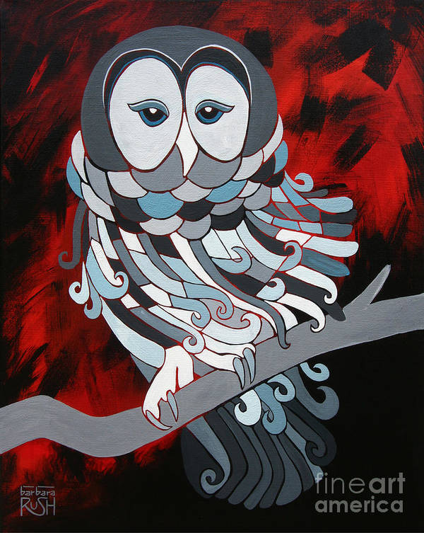 Owl Art Print featuring the painting The Wise One by Barbara Rush
