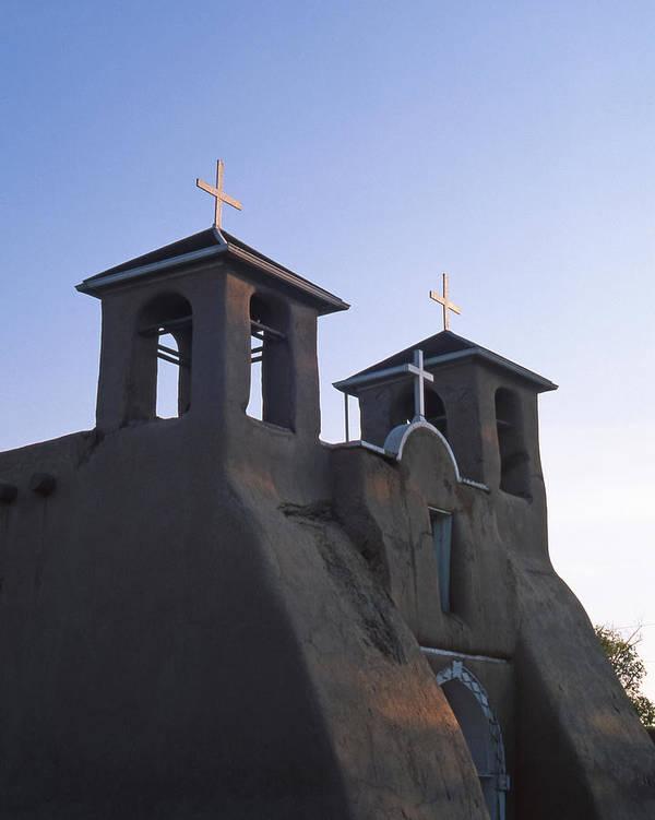 Church Art Print featuring the photograph San Francisco De Asis Church At Sunrise by Troy Montemayor