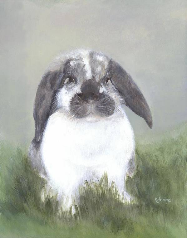 Bunny Art Print featuring the painting Abby by Kimberly Hodge