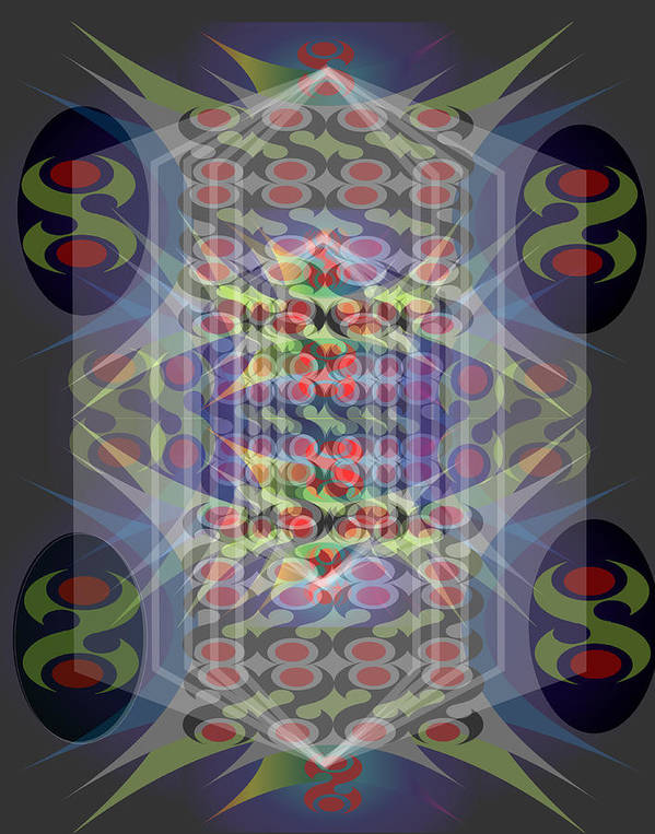 Abstract Art Print featuring the digital art Abstraction Three by George Pasini