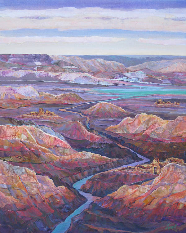 Southwest Art Print featuring the painting Canyonlands by Don Trout