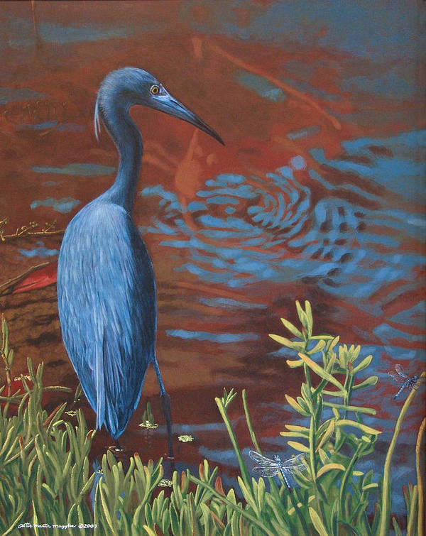 Painting Art Print featuring the painting Gazing Intently by Peter Muzyka