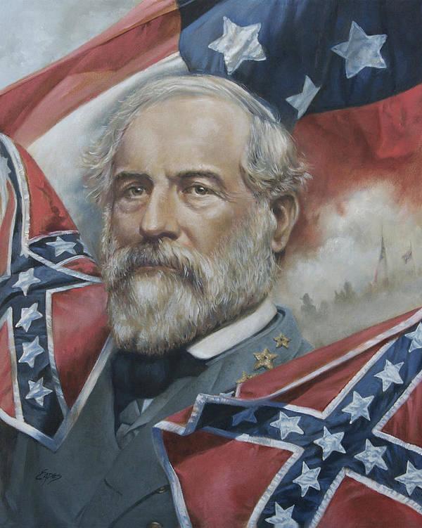 General Lee Art Print featuring the painting General Robert E Lee by Linda Eades Blackburn