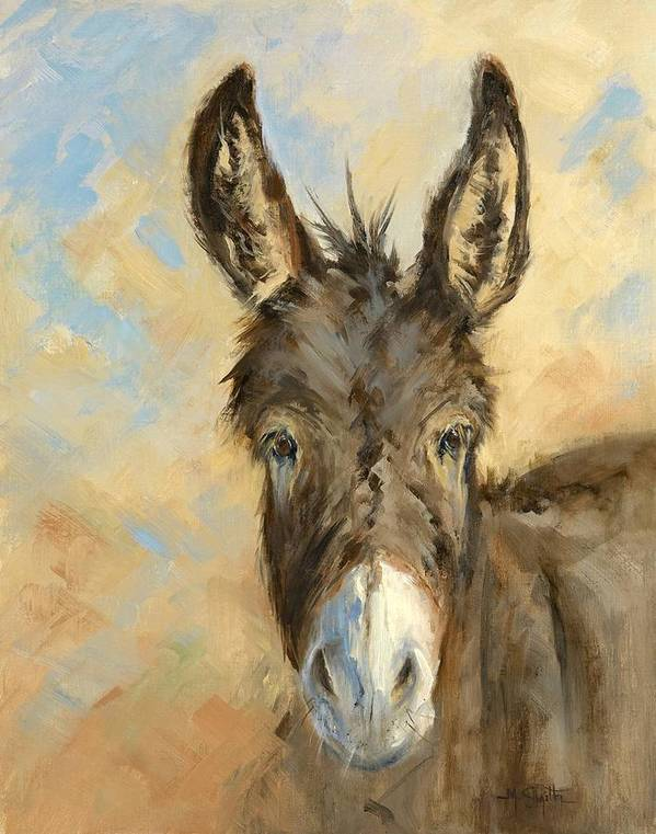Burro Art Print featuring the painting I'm All Ears by Marla Smith