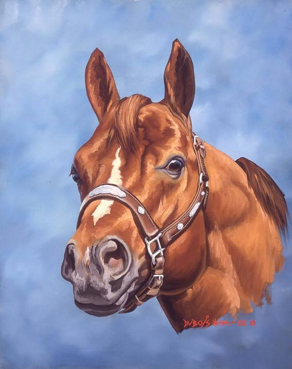 Quarter Horse Art Print featuring the painting Impressive by Howard Dubois