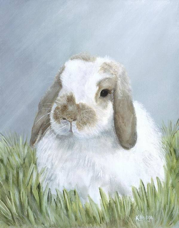 Rabbit Art Print featuring the painting Perfect Tyler by Kimberly Hodge