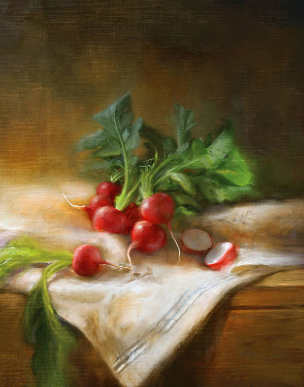 Still Life Art Print featuring the painting Radishes by Robert Papp