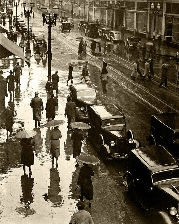 Art Print featuring the photograph Rainy Day by Unknown