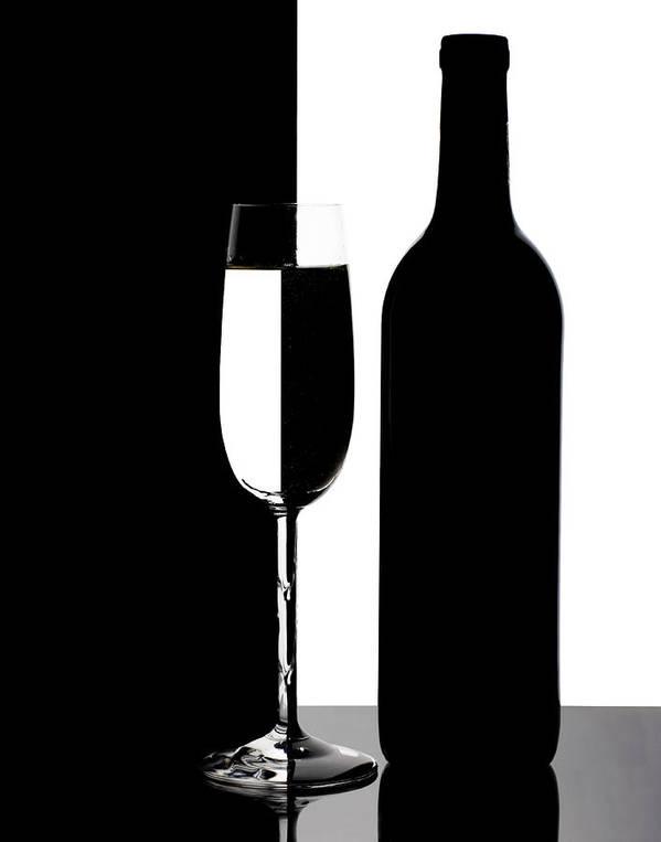 Wine Art Print featuring the photograph Wine Silhouette by Tom Mc Nemar