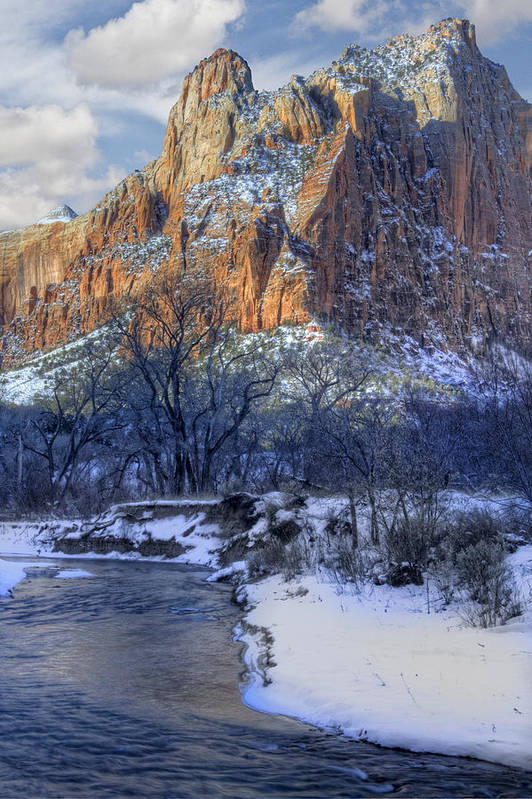 Zion National Park Art Print featuring the photograph Zion National Park Utah by Utah Images