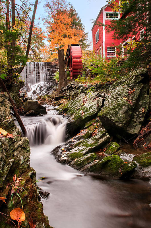 Grist Mill Art Print featuring the photograph Grist Mill-bridgewater Connecticut by Thomas Schoeller