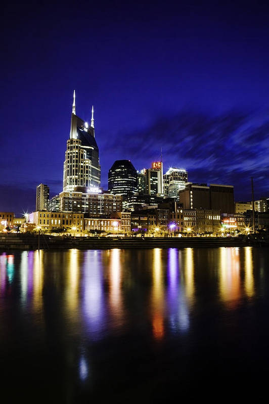 Nashville Art Print featuring the photograph Nashville Skyline by Lucas Foley