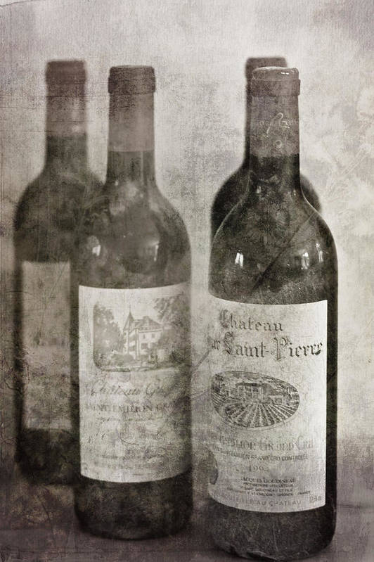 Saint Emilion Wine Art Print featuring the photograph Old Wines by Georgia Fowler