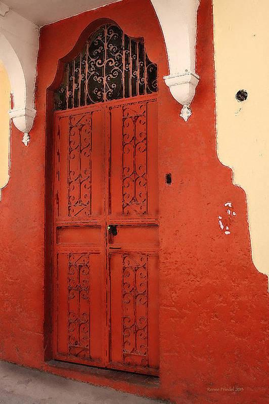 Orange Doors Art Print featuring the photograph Orange Doors by Renee Friedel