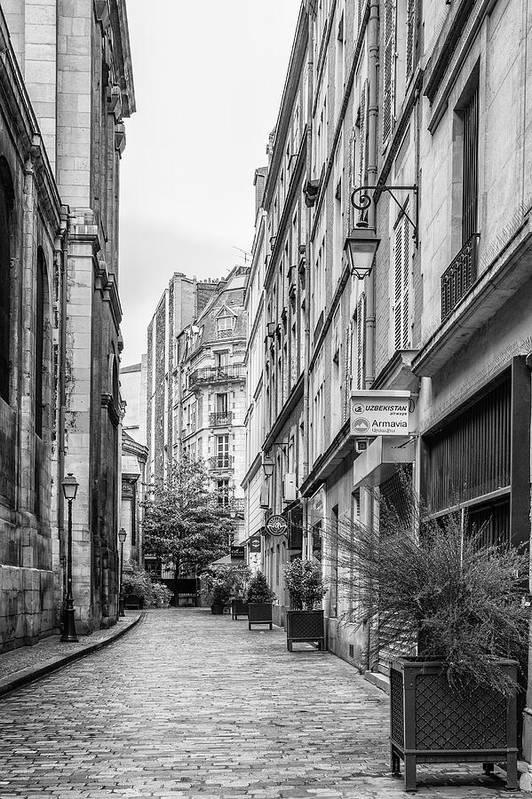 Parisian Street Art Print featuring the photograph Parisian Street by Georgia Fowler
