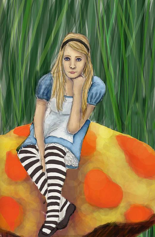 Art Print featuring the digital art Alice In Wonderland by Aimee Helsper
