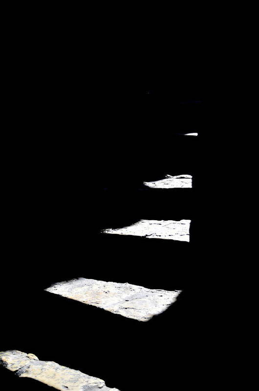 Stairs Art Print featuring the photograph Light Play by Miron Abramovici