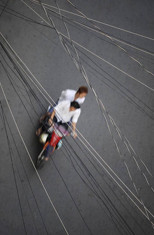 Asia Art Print featuring the photograph Saigon Wires by Rafa Rivas