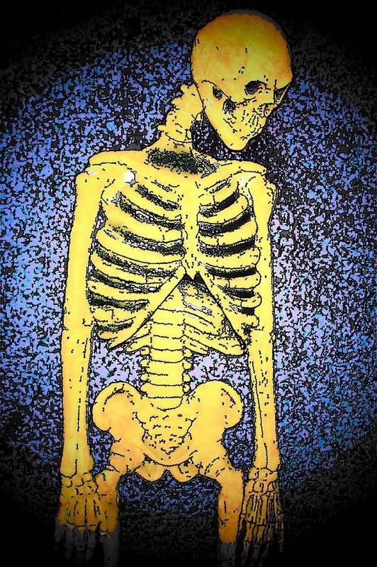 Skeleton Art Print featuring the photograph Skeletoon by Mark Cheney