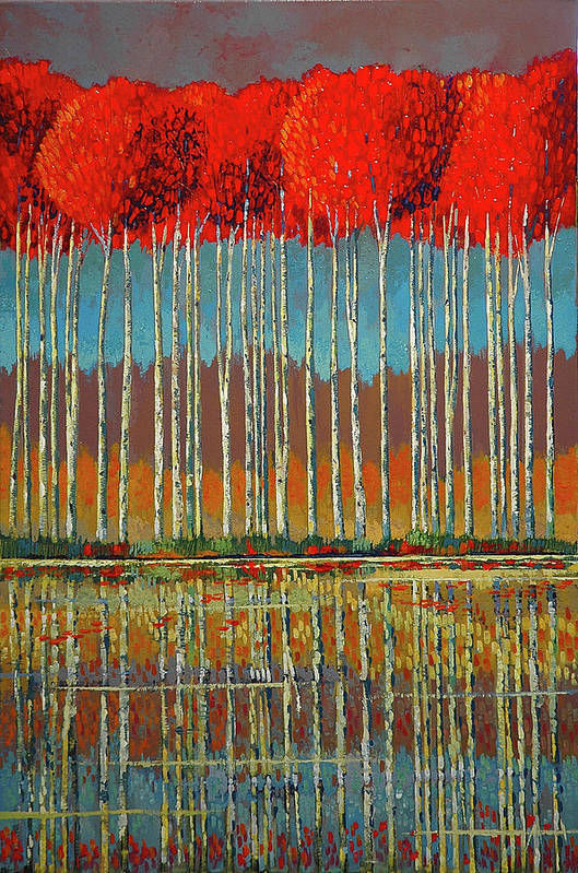 Ford Smith Art Print featuring the painting Scarlet Approach by Ford Smith