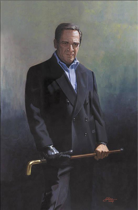 #formal Portrait Of Harold Shull Art Print featuring the painting Harold Shull Circa 2004 by Harold Shull