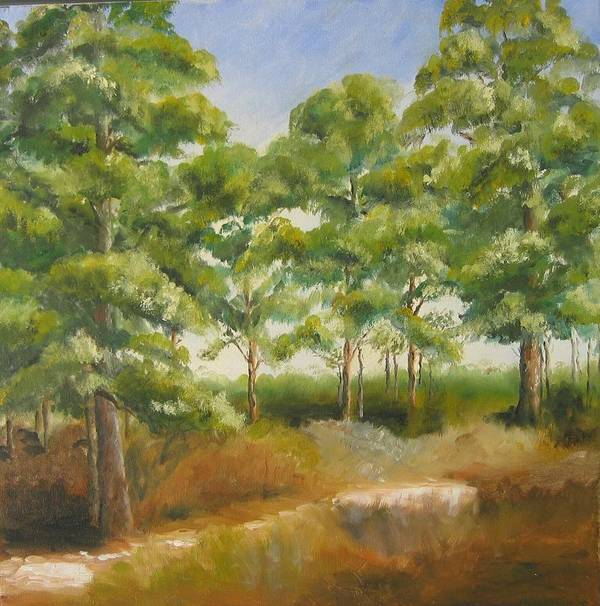 Pines Art Print featuring the painting Island Pines by Susan Richardson