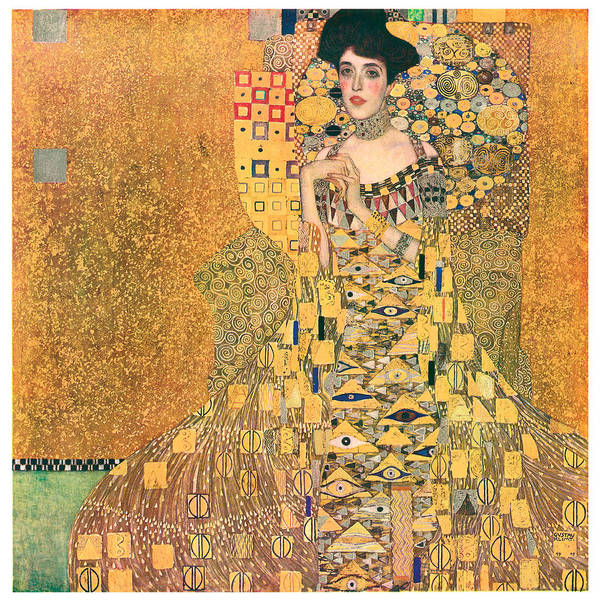 Gustav Klimt Art Print featuring the painting Portrait Of Adele Bloch-bauer I by Gustav Klimt
