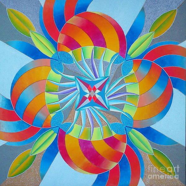 Mandala Art Print featuring the drawing Mandala by Martin Zezula