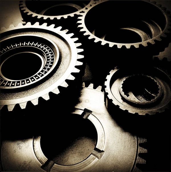 Gearing Art Print featuring the photograph Cogs by Les Cunliffe