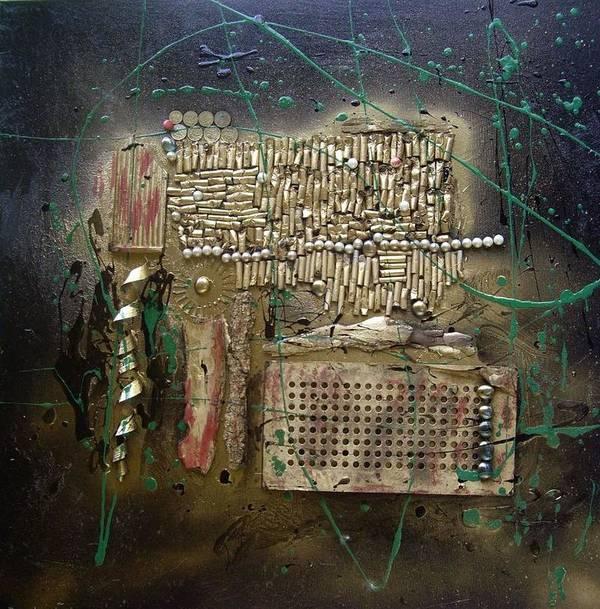 Abstrakt Art Print featuring the mixed media Art Trash by Wiola Anyz