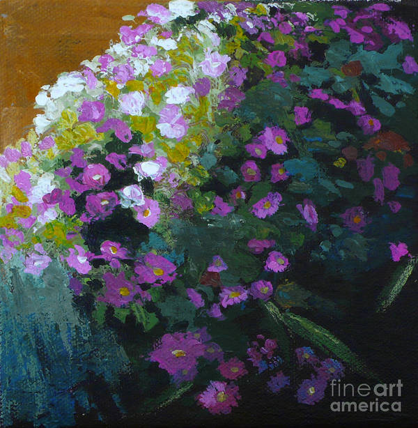 Contemporary Floral Painting Art Print featuring the painting Asters by Melody Cleary