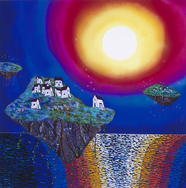 Abstract Art Print featuring the painting Avatar Island Housing by Patrick OLeary