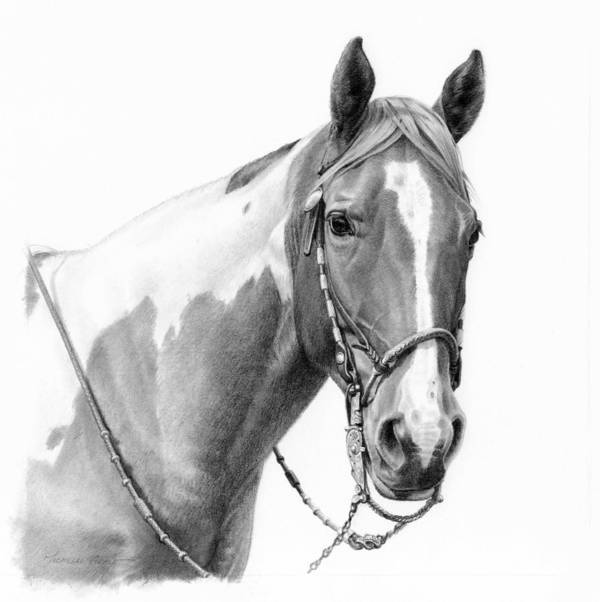 Michelle Grant Art Print featuring the painting B And W Study by JQ Licensing