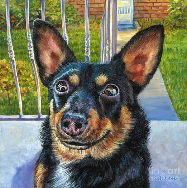 Chihuahua Art Print featuring the painting Billy by Catherine Garneau