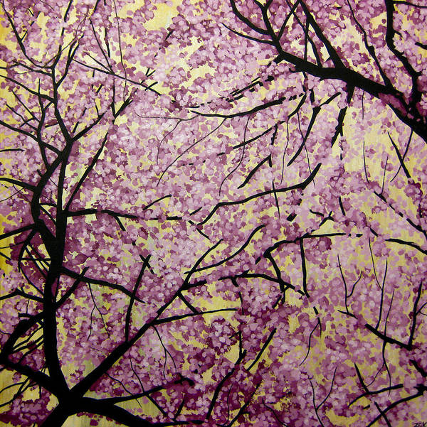 Cherry Blossoms Art Print featuring the painting Cherry Blossoms by Bobby Zeik