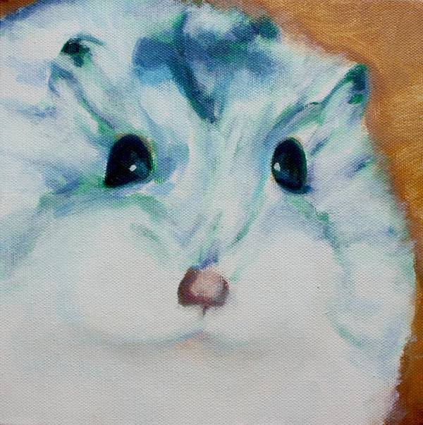 Hamster Art Print featuring the painting Chippy by Sarah Vandenbusch