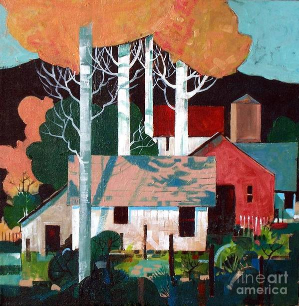 Farm Art Print featuring the painting Colorado Farm by Micheal Jones