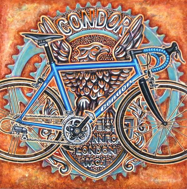 Bicycle Art Print featuring the painting Condor Baracchi by Mark Jones