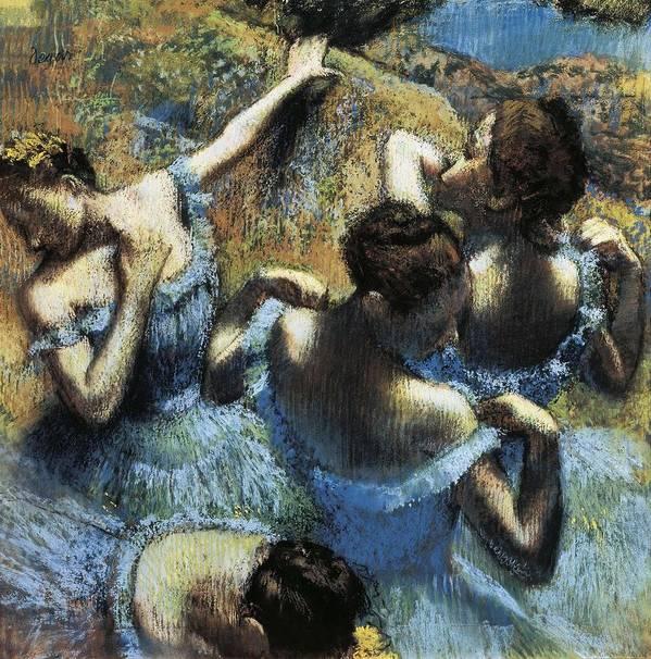 Vertical Art Print featuring the photograph Degas, Edgar 1834-1917. Blue Dancers by Everett
